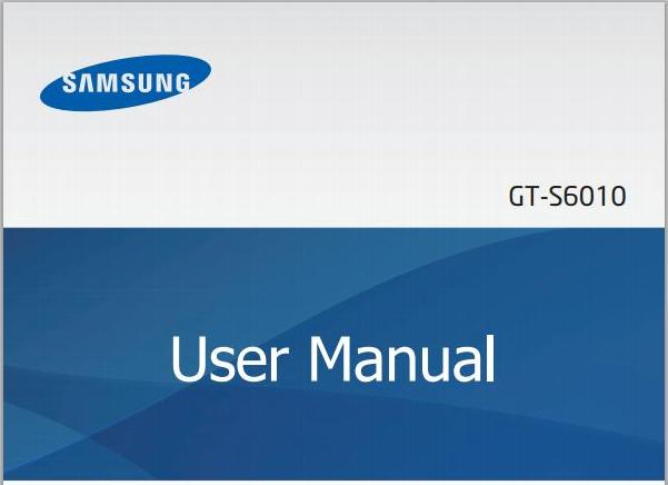 Samsung Galaxy Music Manual Cover