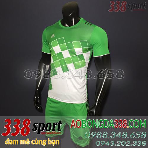 áo bóng đá adidas caro xanh lá