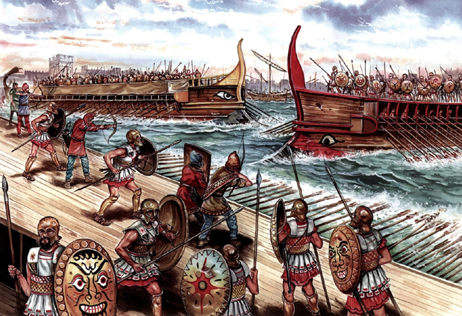 Peloponnesian sea battle