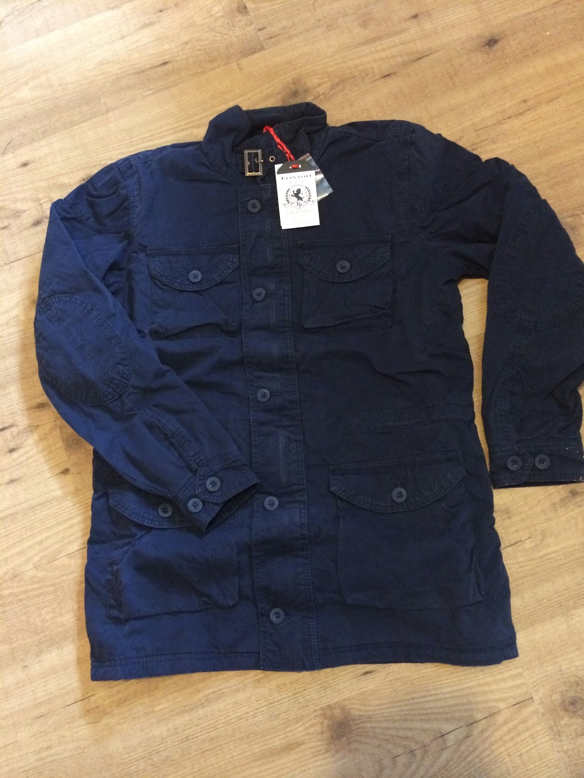 navy military jacket from Flintoff by Jacamo