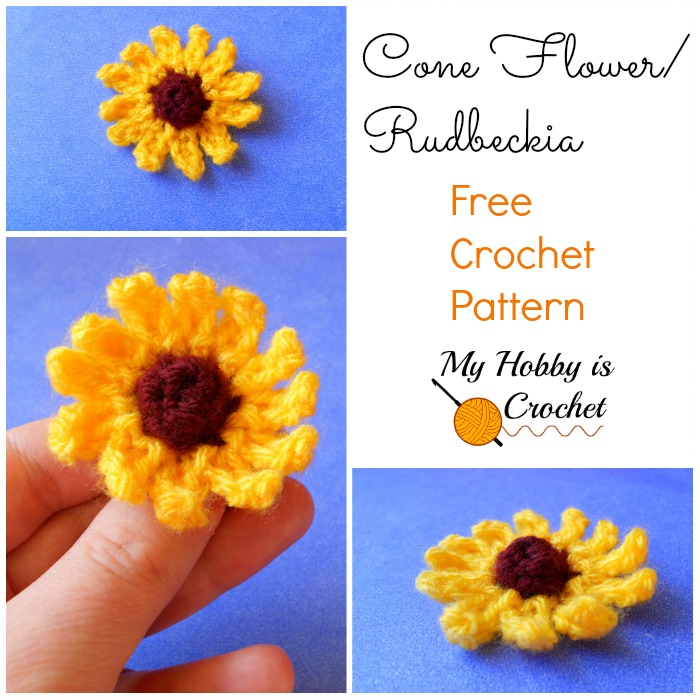 Small Cone Flower (Rudbeckia) - Free Written & Charted Pattern