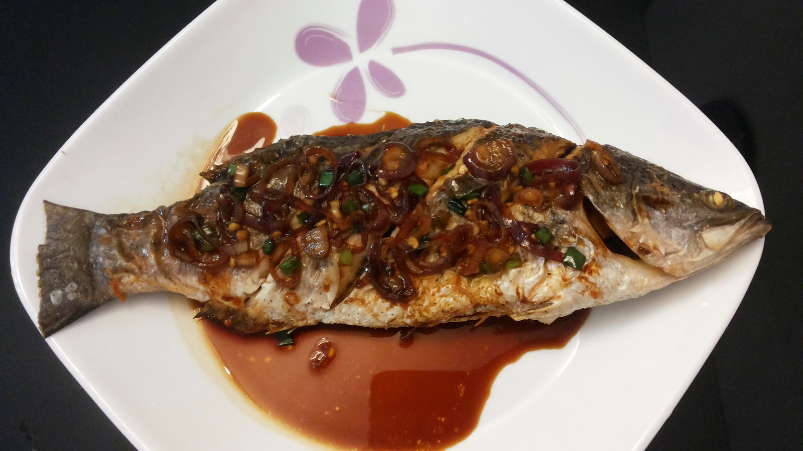 Krystal Wee Recipes: Air-Fried Sea Bass with Spicy Dark