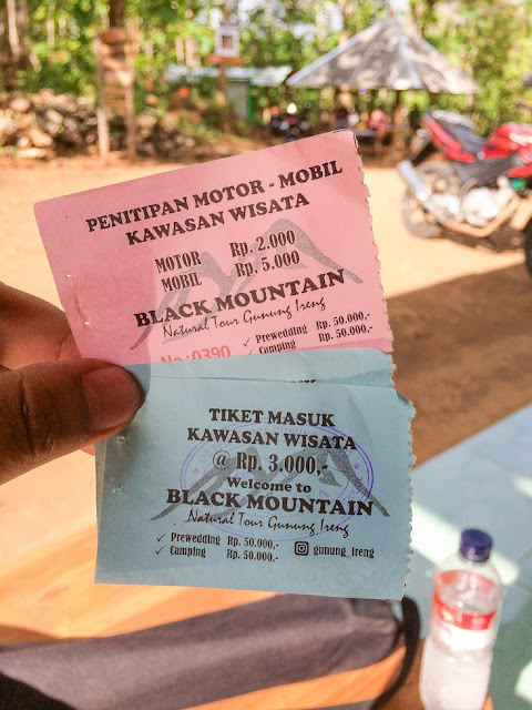 tiket masuk ke gunung ireng