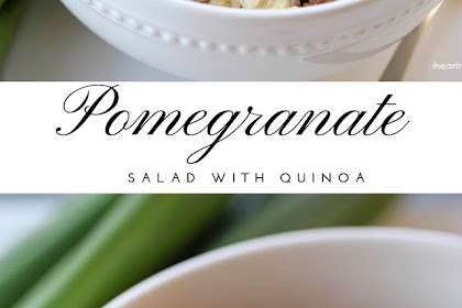 Pomegranate Salad With Quinoa #christmas #lunch