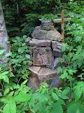 Kamienna kapliczka.