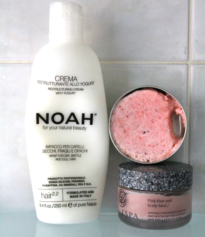 Noah Restructuring Cream and ESPA Pink Hair and Scalp Mask