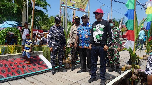 Lantamal X Dukung Benhur Tomi Mano Kembangan Wisata Bahari di Kota Jayapura