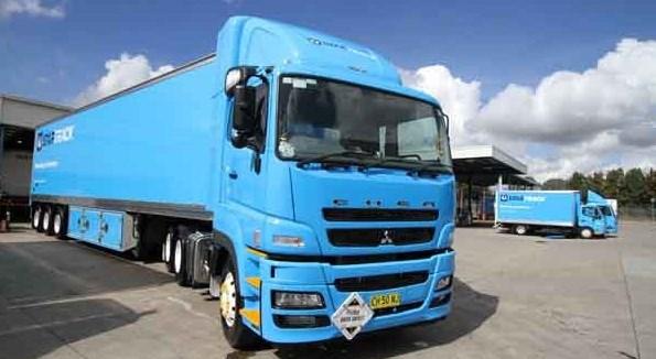 modifikasi truk fuso serba biru
