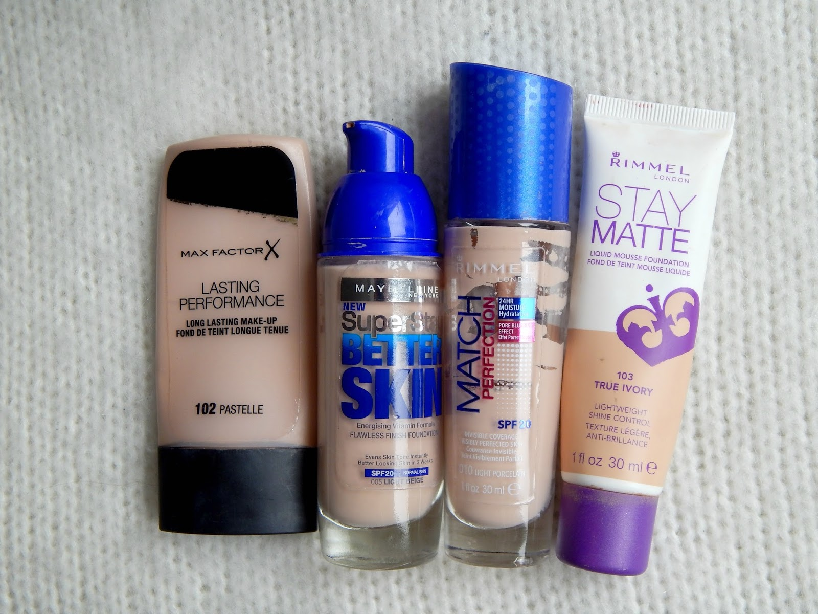 Make-upy Max Facotr, Maybelline, Rimmel