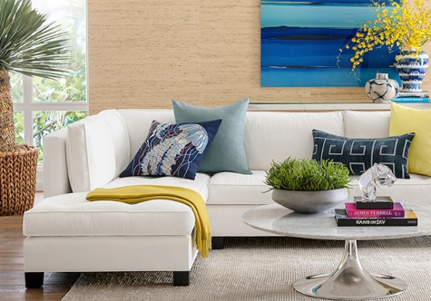 Coastal Decor Living Room Modern Vibe Bold
