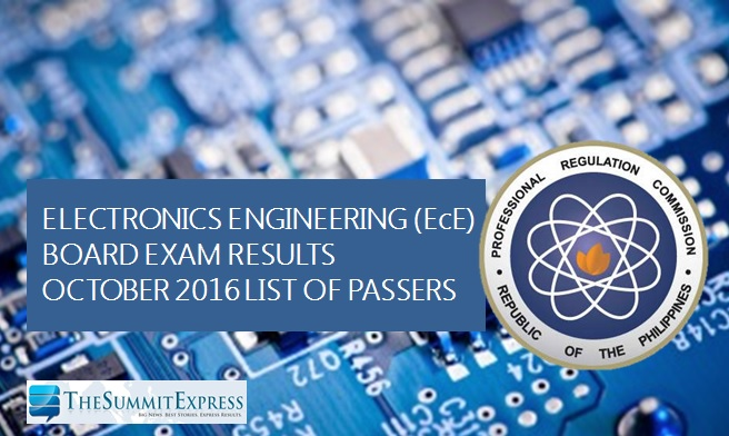 October 2016 ECE, ECT board exam results