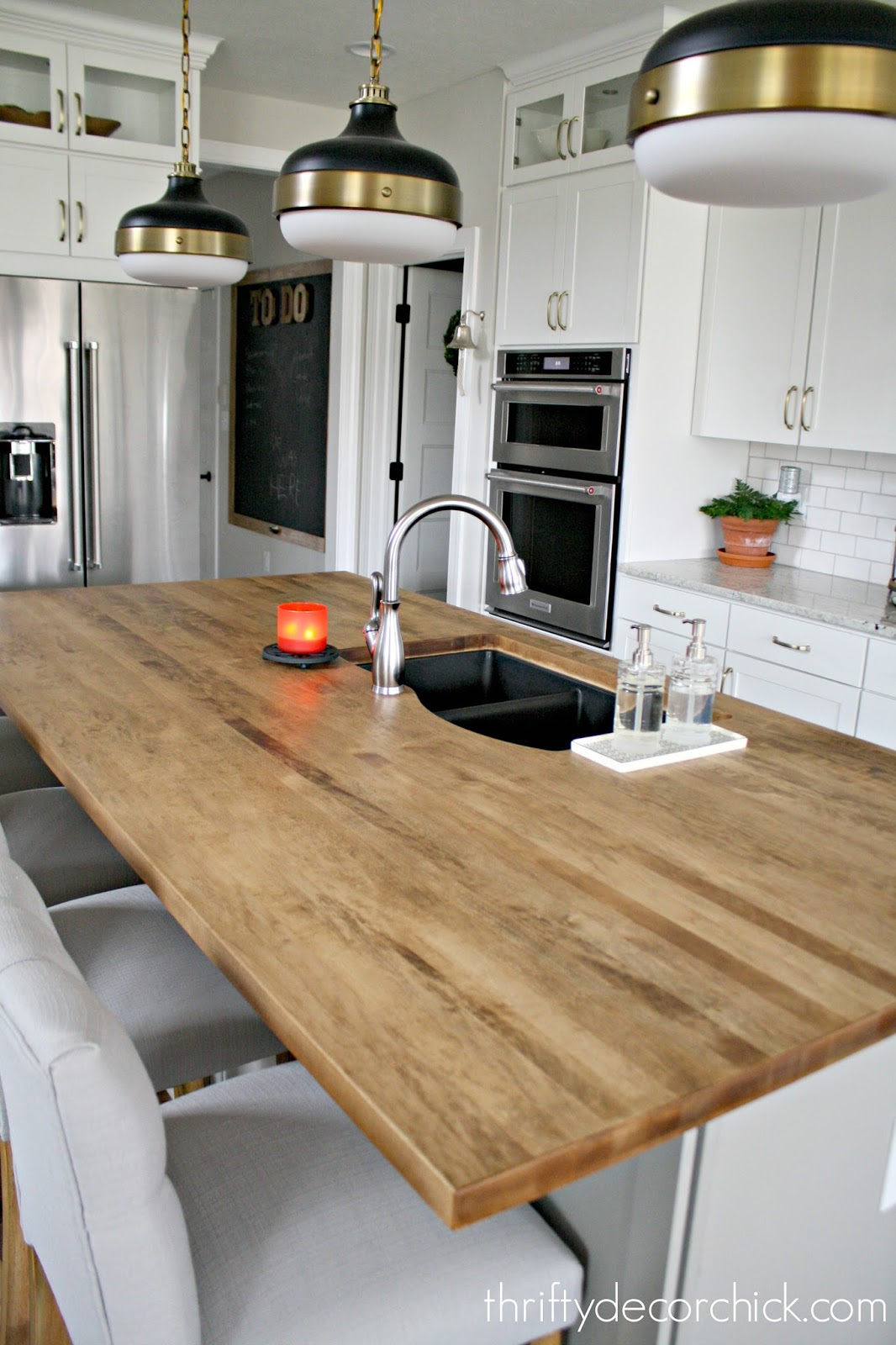 Provincial Stain On Wood Countertop