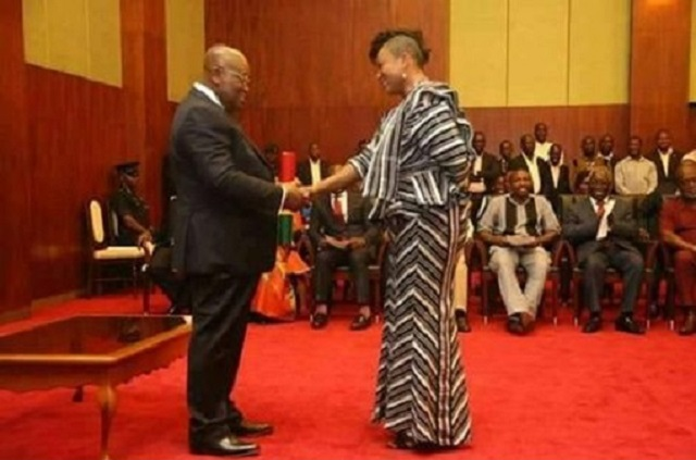 President Nana Addo Dankwa Akufo-Addo and Otiko Afisa Djaba