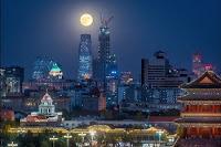 Super Full Moon over Beijing