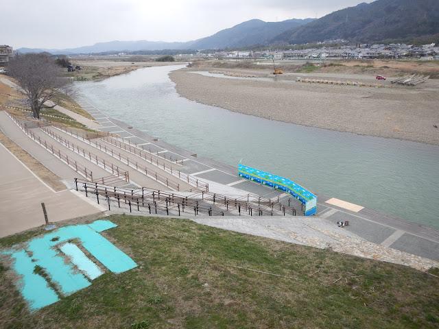 Embarcadero en el rio Hozugawa