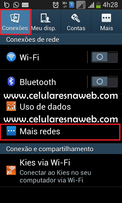 desativar rede movel android