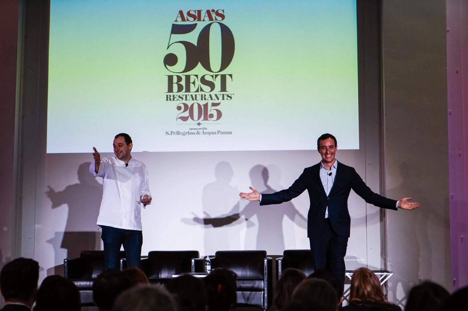 2015年亞洲五十最佳餐廳,典禮實況及榜單分析