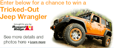 Enter for a chance to win a tricked-out Jeep Wrangler