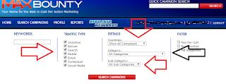 maxbounty search campaigns