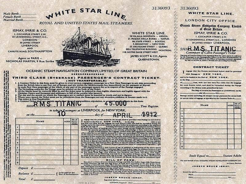 Ultimate Collection Of Rare Historical Photos. A Big Piece Of History (200 Pictures) - Boarding pass for Titanic