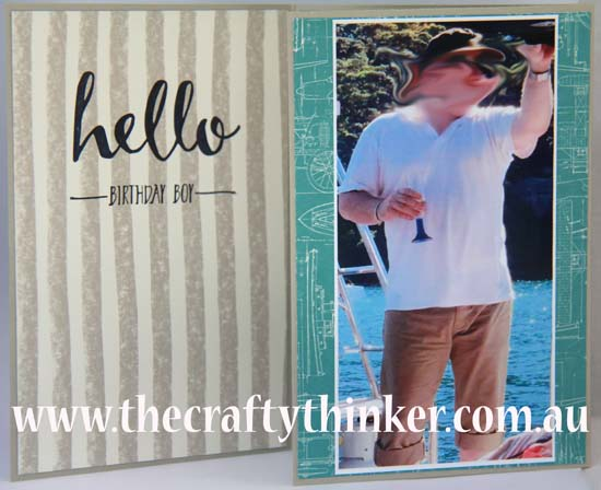 SU, Sale-a-Bration, Hello, 40th birthday card, masculine card
