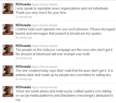 Ngozi Okonjo Iweala Resorts To Twitter To Reply Her Critics 1
