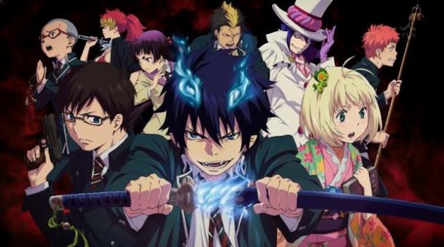 Ao no Exorcist - Anime Mirip Black Clover [Rekomendasi Terbaik]