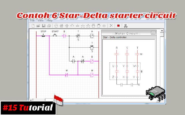 Contoh 6 Star-Delta starter circuit | Tutorial bahasa Indonesia #15
