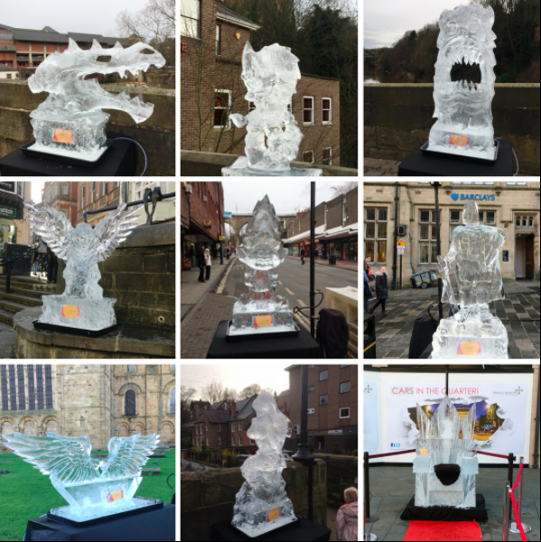 Fire and Ice Durham 2017 | Photographs & Top Tips for 2018 - Ice sculptures My Boys Club