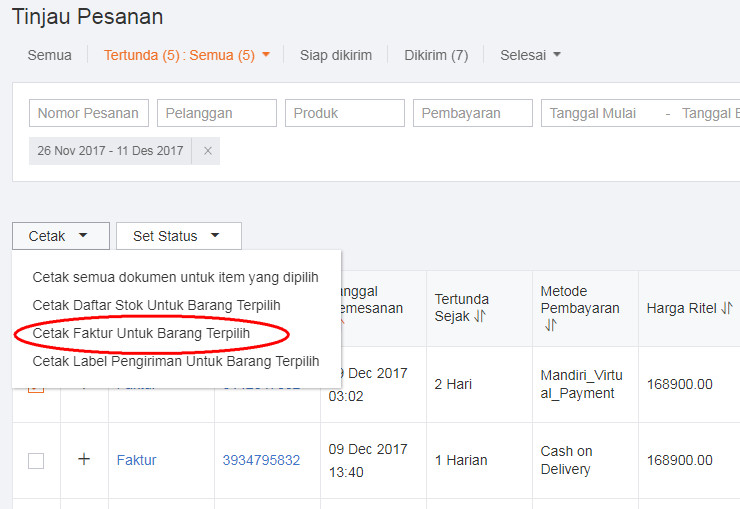 Cara Cetak Invoice Orderan / Penjualan di Lazada - CEMITI