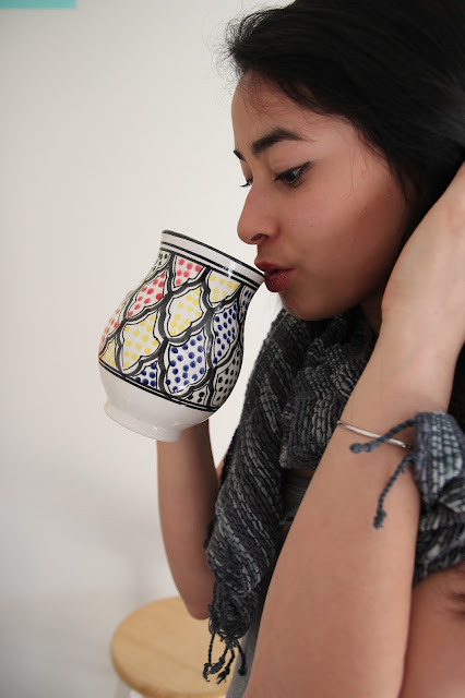 Handpainted mug anthropologie le souk