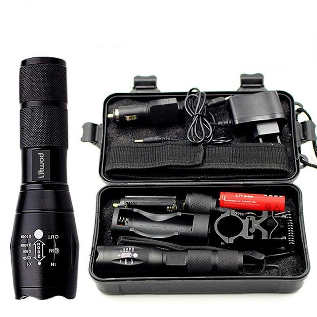 Z50 Zoomable Tactical Hunting LED Flashlight with Box Kit