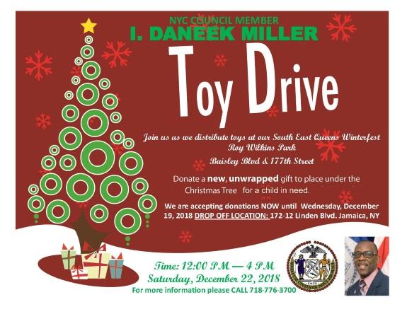 Danek Miller 2018 Toy Drive
