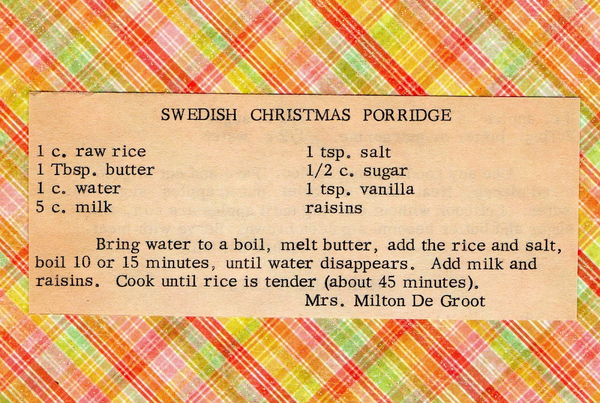 Swedish Christmas Porridge (quick recipe)