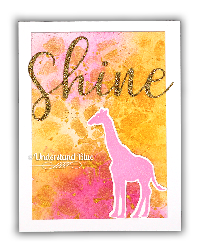Smooch background on watercolor with giraffe by Understand Blue