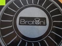 Logo: TV Unser Original 08832 Bratoni Geschmiedete Aluminium-Hochrandpfanne mit Hitzekontrolle, 28 cm