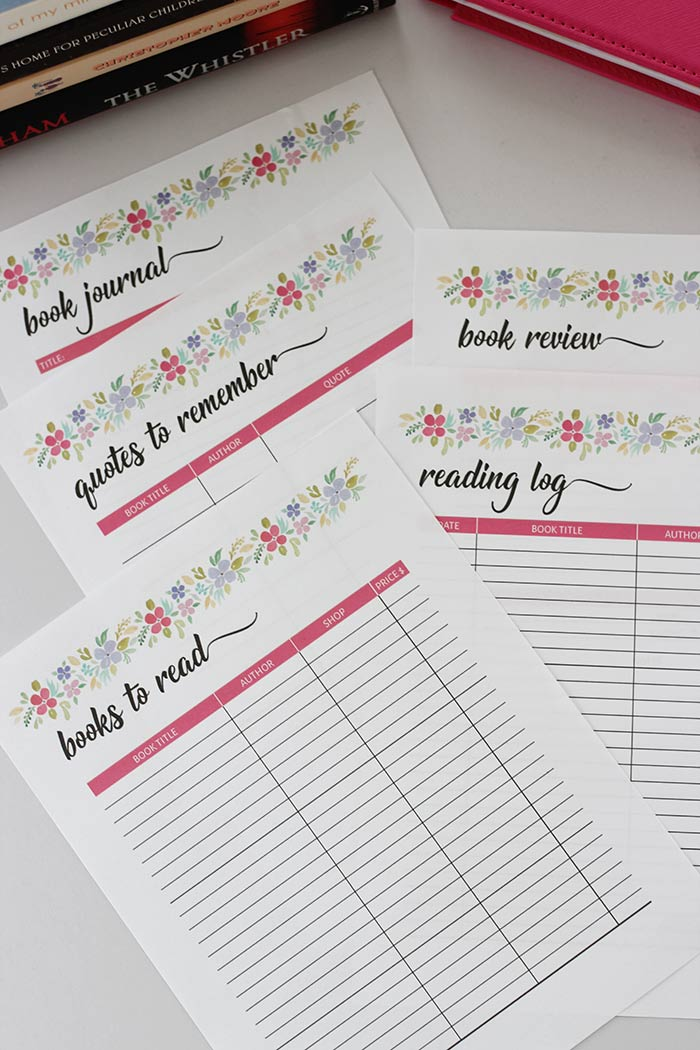 free printable reading planner for book lovers fits the happy