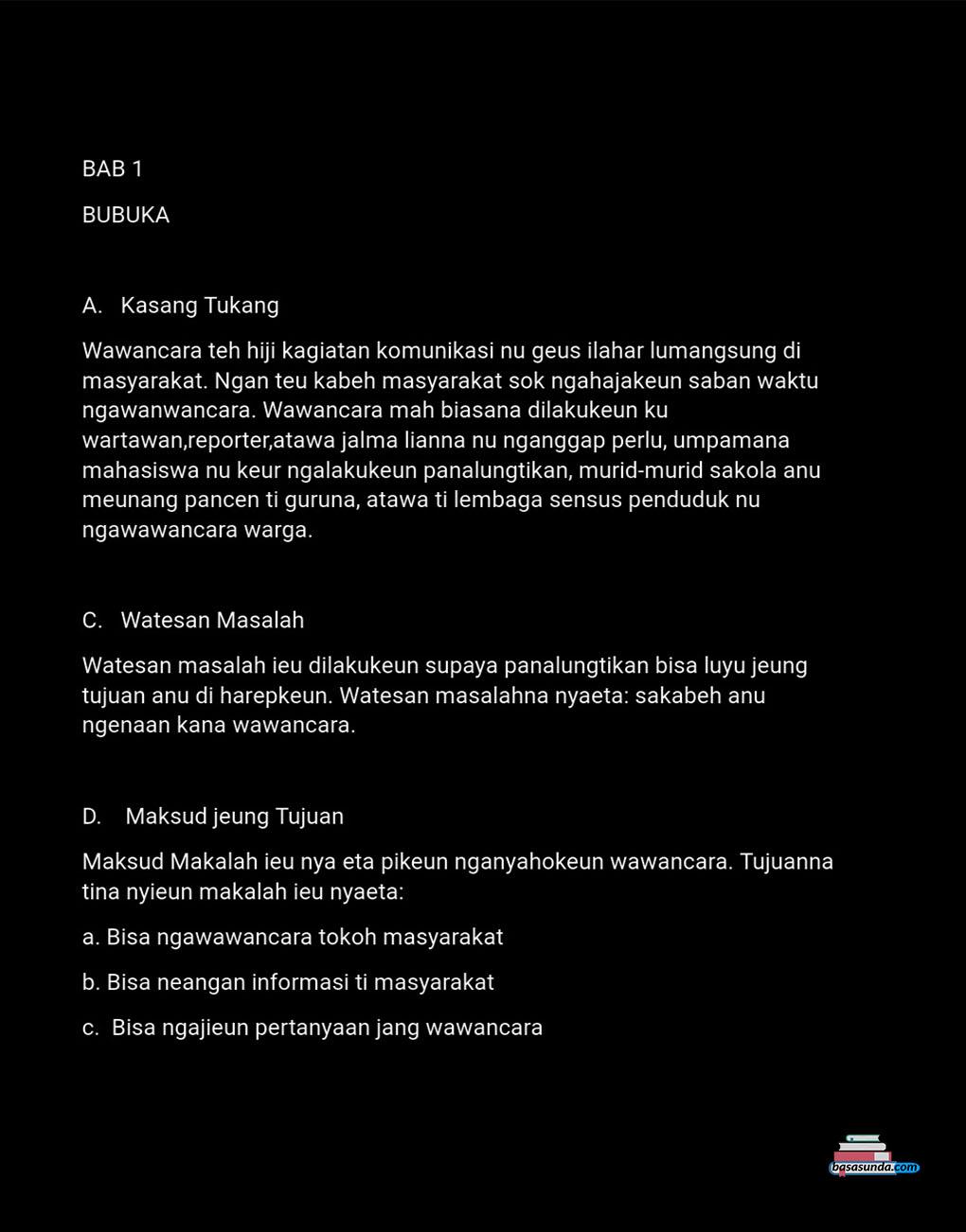 Contoh Makalah Wawancara Pedagang Bahasa Sunda Download Contoh Lengkap Gratis