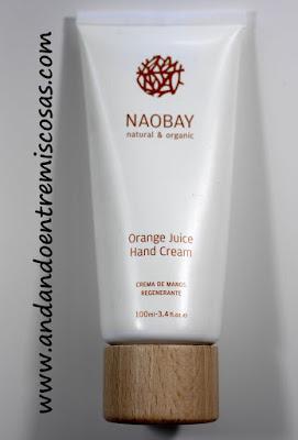 Crema de manos regenerante de Naobay