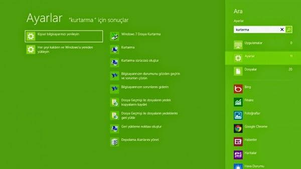Windows 8'e CD'siz Format Atma