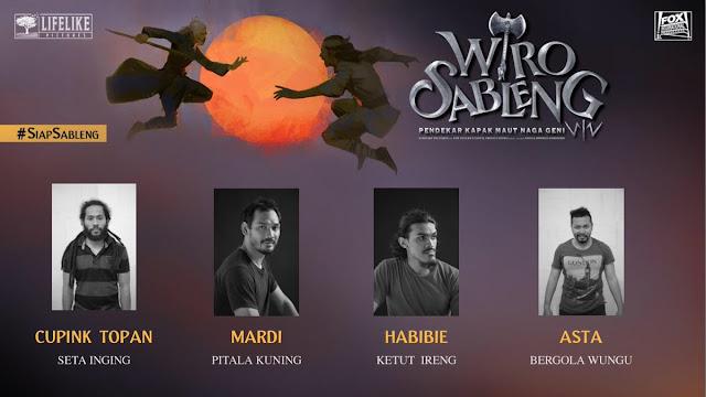 Cupink Topan, Mardi, Habibie, dan Asta sebagai Empat Berewok dari Gua Sanggreng/ Sumber foto @LifeLikePictrs