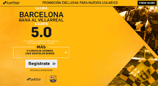 betfair supercuota Villarreal v Barcelona Liga 8 enero 2017