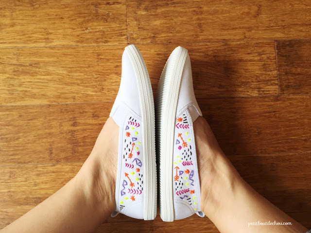 diy custom summer shoes with embroidery