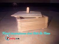 Membuat Tempat Penyimpanan Pensil atau Peralatan sekolah dari Stik Es Krim