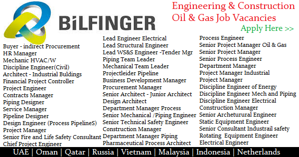 Bilfinger Engineering & Construction Oil & Gas Job Openings