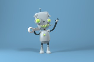 Modelado 3D de un robot cartoon en Maya