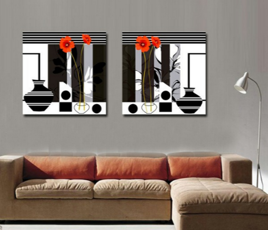 Cuadros modernos pinturas y dibujos 03 30 17 for Fotos de living modernos