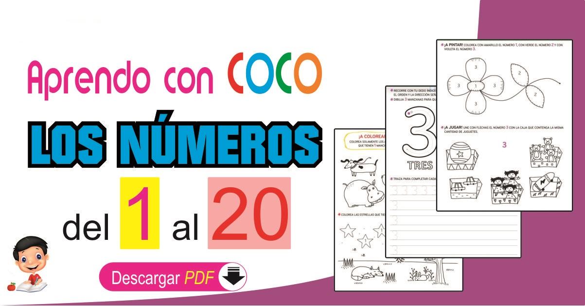 Aprendo Los Números Del 1 Al 20 Con Coco Preescolar Y Primer Grado