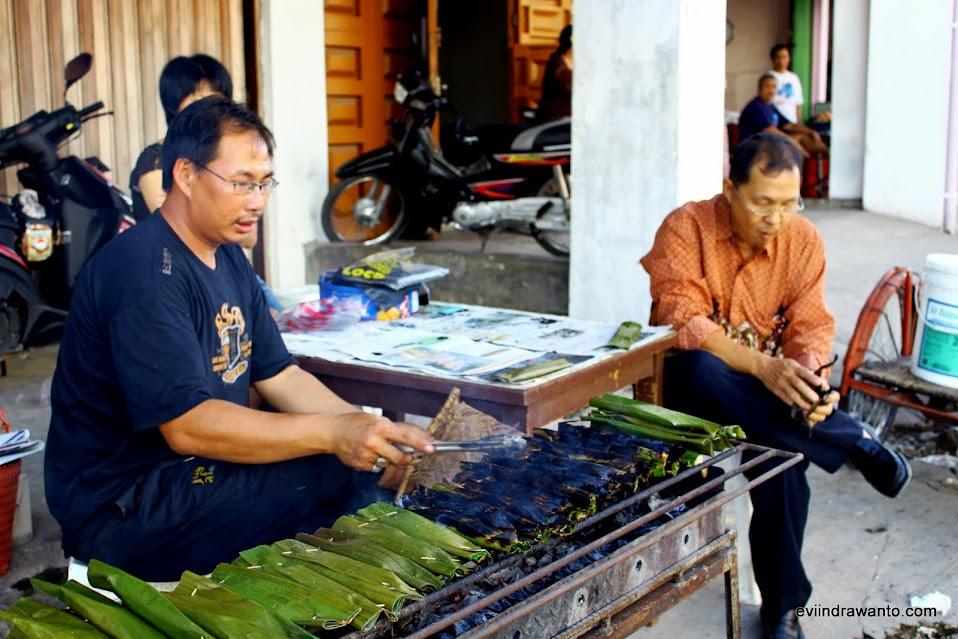 lompong sago cakes from minangkabau people