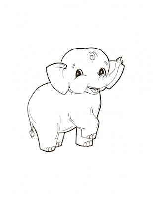 baby elephant coloring pages print - photo#27